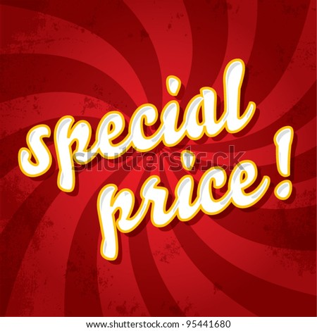 Special price stamp on a dynamic background, promotional price offer concept, vector illustration - stock vector