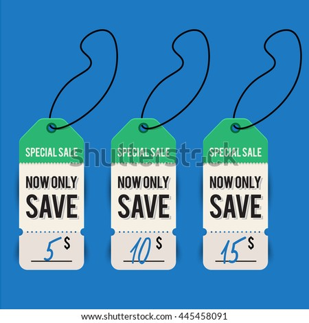 special price tags, labels - stock vector