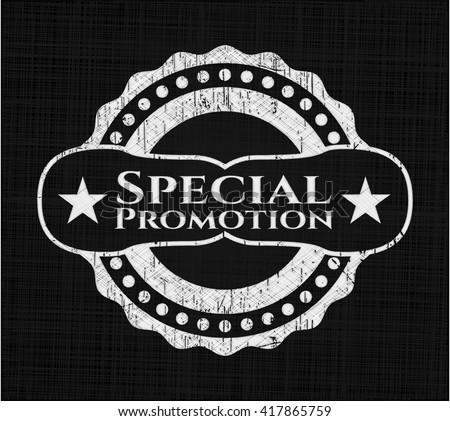 Special Promotion chalk emblem written on a blackboard - stock vector