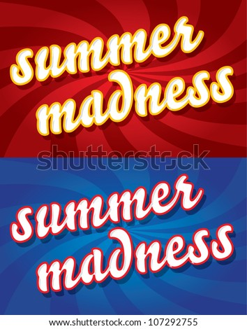Special summer offer banner with SUMMER MADNESS text, holiday offer concept, vector illustration