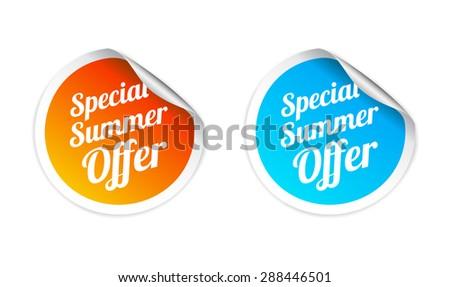 Special Summer Offer Sticker - stock vector