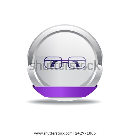 Spectacle Purple Vector Icon Button