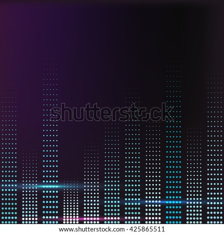 spectrum colorful music volume with lighting vector illustration - stock vector