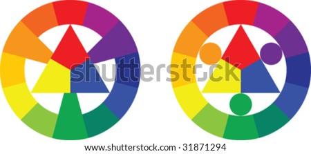 Spectrum colors - stock vector