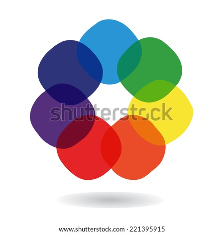 Spectrum wheel with rainbow colors, vector illustration  - stock vector