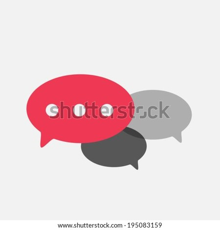 Speeach bubbles flat icons - stock vector