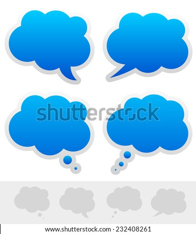 Speech and thought bubble shapes - stock vector