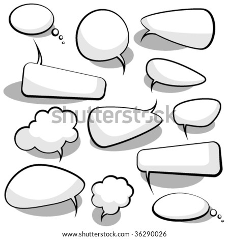 Speech And Thought Bubbles - stock vector
