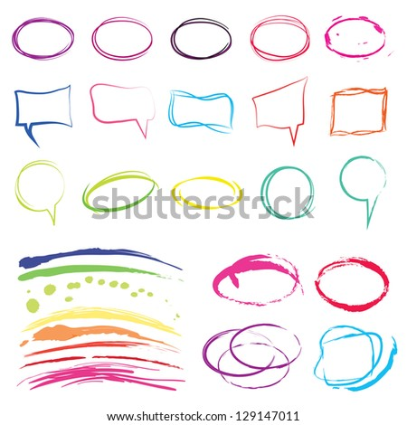 Speech And Thought Bubbles Isolated On White Background Vector Illustration, Graphic Design Useful For Your Design. Comic Style Collection. Funny Design Vector Items illustration - stock vector