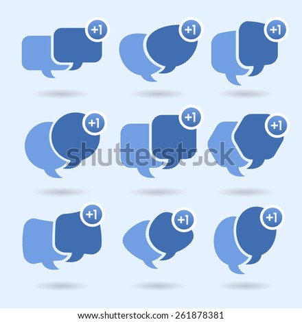 Speech balloons, social media conversation and networking YOU HAVE 1 NEW MESSAGE - stock vector