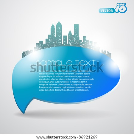 Speech Bubble - stock vector