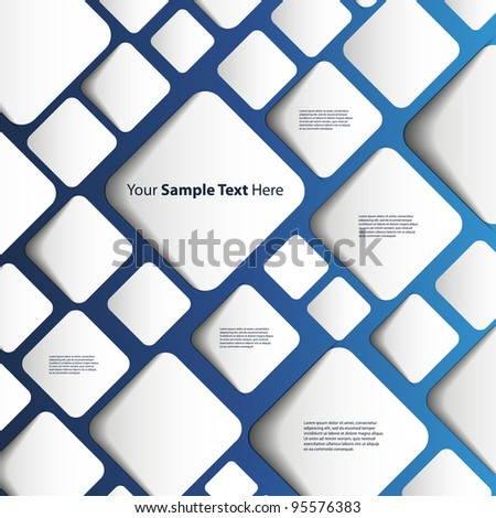 Speech Bubble Background - stock vector