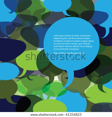 Speech Bubble Background Vector - stock vector