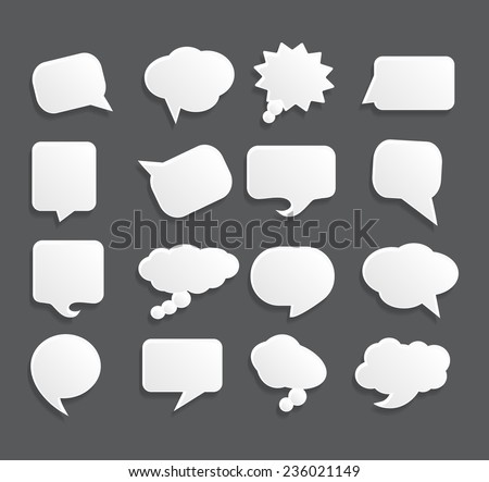Speech bubble banner set. Vector illustration.