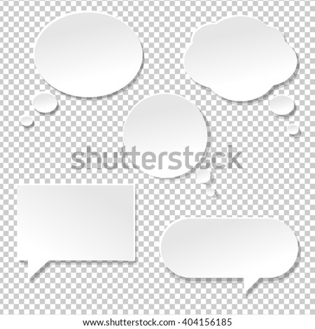 Speech Bubble Big Set, Isolated on Transparent Background, Vector Illustration - stock vector