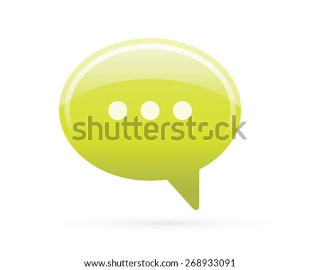 Speech Bubble Chat Detailed Icon - stock vector