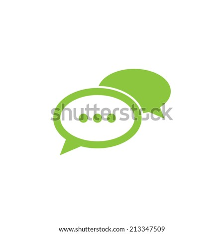 Speech Bubble Chat Icon - stock vector