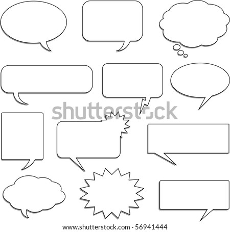 Speech bubble collection - stock vector