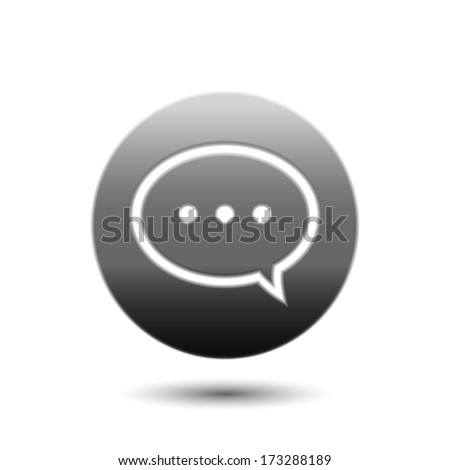 Speech bubble comment icon - stock vector