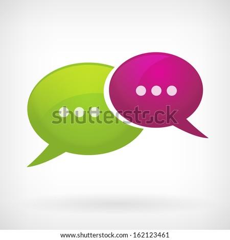 speech bubble communication icon - stock vector