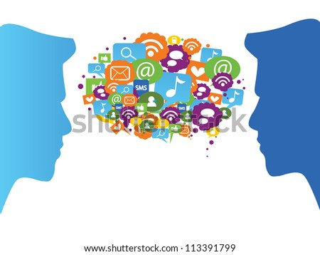 speech bubble concept - stock vector