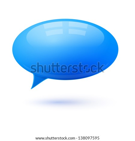 Speech bubble dialog vector element