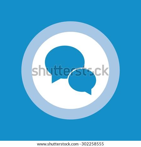 Speech bubble flat icon in circle - stock vector