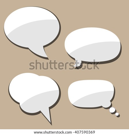 Speech bubble for comics or photos. Vector illustration isolated.