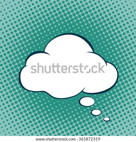 Speech Bubble. Halftone background in pop art style. Stock vector illustration. - stock vector