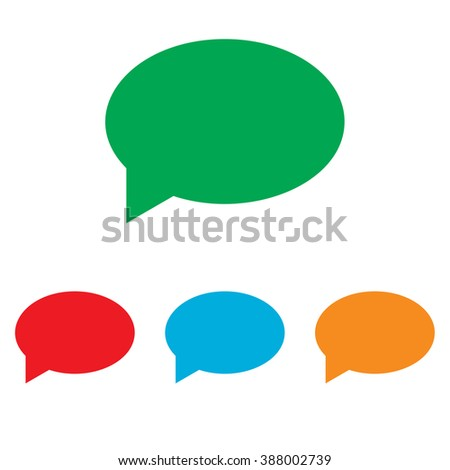 Speech bubble icon. Colorfull set isolated on white background
