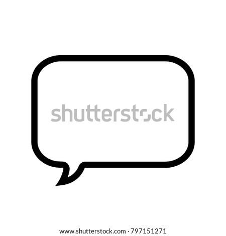 Speech Bubble Icon Empty Chat Icon Stock Vector 600269495 ...