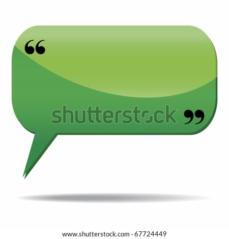 Speech bubble icon isolated over a white background - stock vector