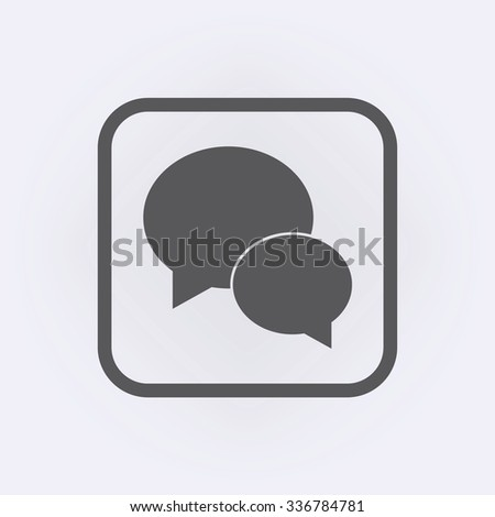 Speech bubble icon or message icon . Vector illustration - stock vector
