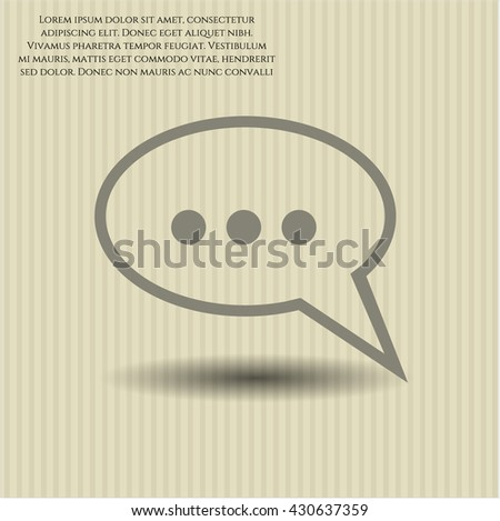Speech bubble icon, Speech bubble icon vector, Speech bubble icon symbol, Speech bubble flat icon, Speech bubble icon eps, Speech bubble icon jpg, Speech bubble icon app, Speech bubble web icon - stock vector