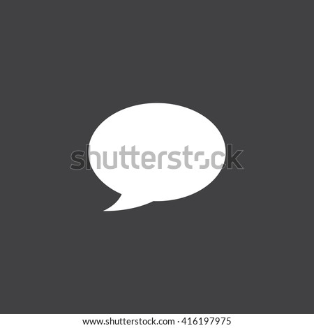 Speech bubble icon vector, solid illustration, pictogram isolated on black - stock vector