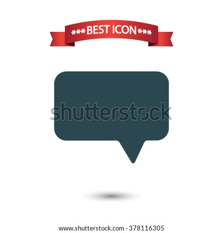Speech bubble icon vector, Speech icon eps10, Speech bubble icon - stock vector