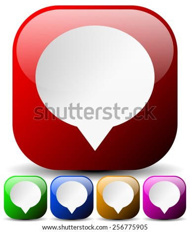 Speech Bubble Icons for Communication, Forum, Message, Chat Concepts. Can Be Used as Map Markers - stock vector