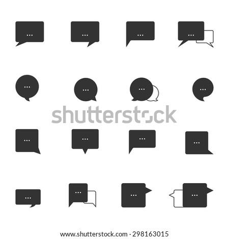 Speech bubble icons,Vector EPS10. - stock vector
