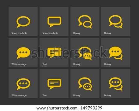 Speech bubble icons. Vector illustration. - stock vector