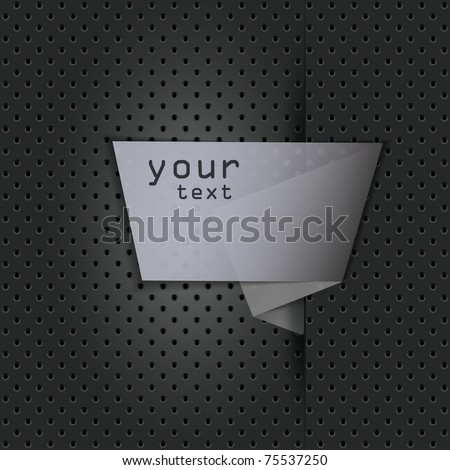 Speech Bubble on Metal Background - stock vector