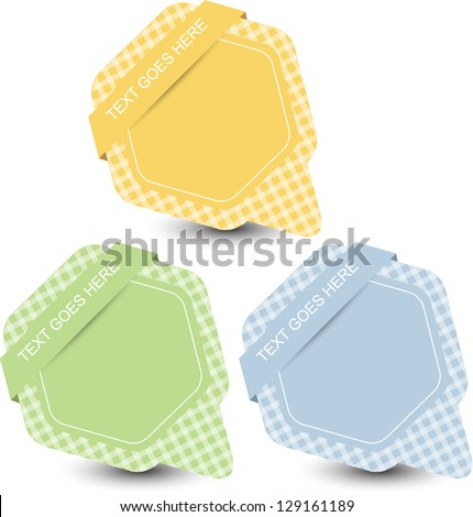 speech bubble set - stock vector