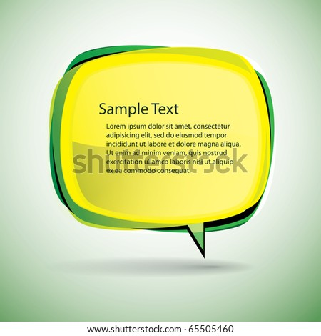 Speech bubble vector background - stock vector