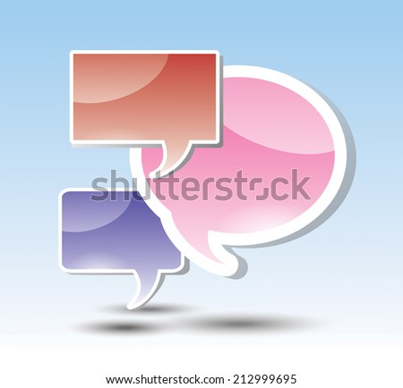 Speech Bubble. Vector Illustration