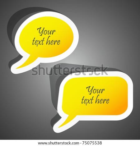 Speech bubble. Vector illustration (eps10). - stock vector