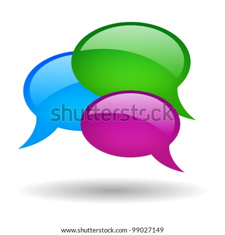 Speech bubble vector illustration, eps10 - stock vector