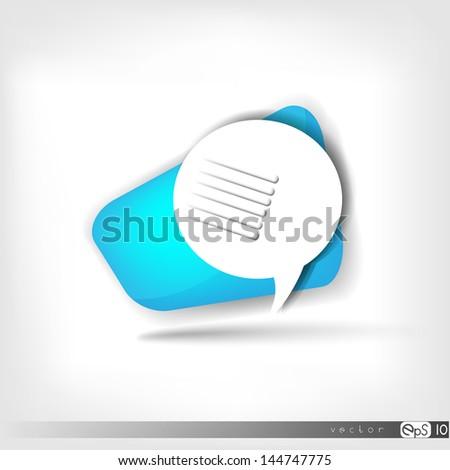 Speech bubble web icon - stock vector