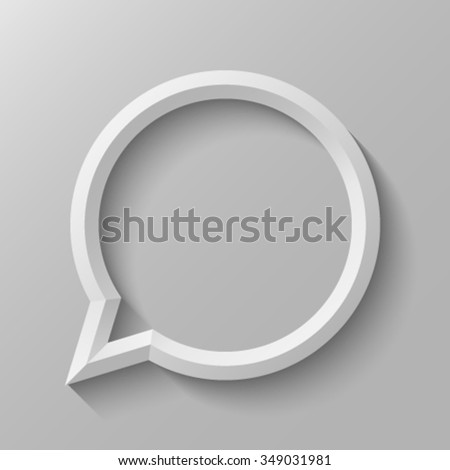 Speech bubble with bevel. - stock vector