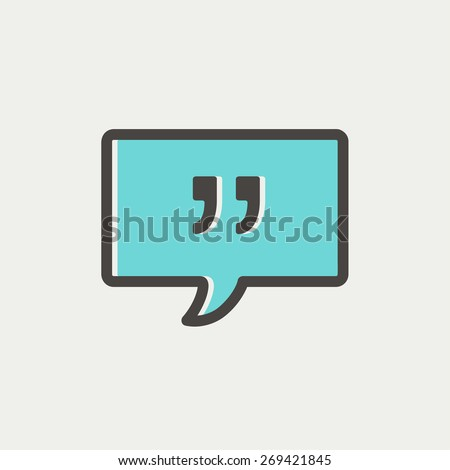 Speech bubble with punctuation symbol icon thin line for web and mobile, modern minimalistic flat design. Vector icon with dark grey outline and offset colour on light grey background. - stock vector