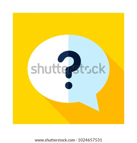 Speech Bubble Question Mark Icon Ecommerce Stock Vector 1024657531