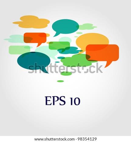 speech bubbles and dialog balloons - stock vector
